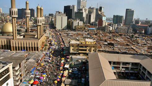 Die Megacity Lagos in Nigeria mit 10,4 Millionen Einwohnern