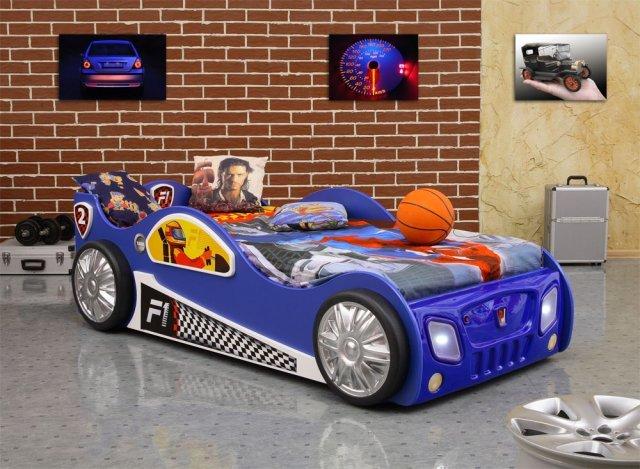 Autobett Sportwagen 'Monza' in vier Farben