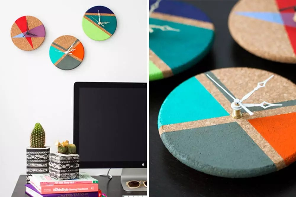 Relojes de pared originales que puedes hacer para tu casa