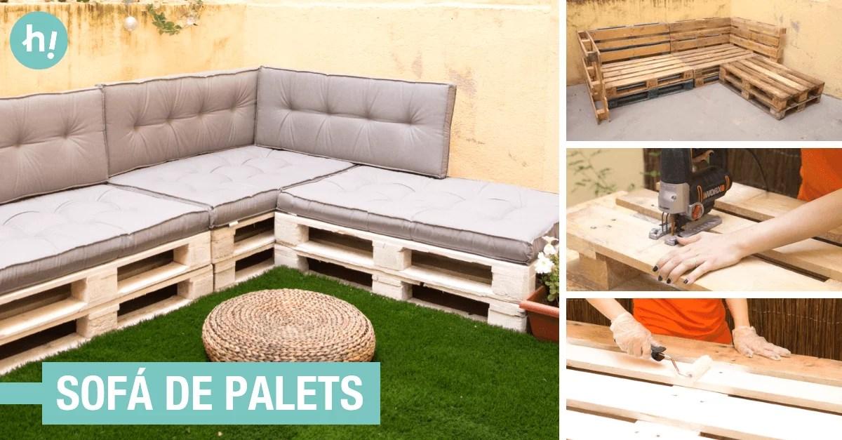 Cmo hacer un sof de palets cmodo  Handfie DIY