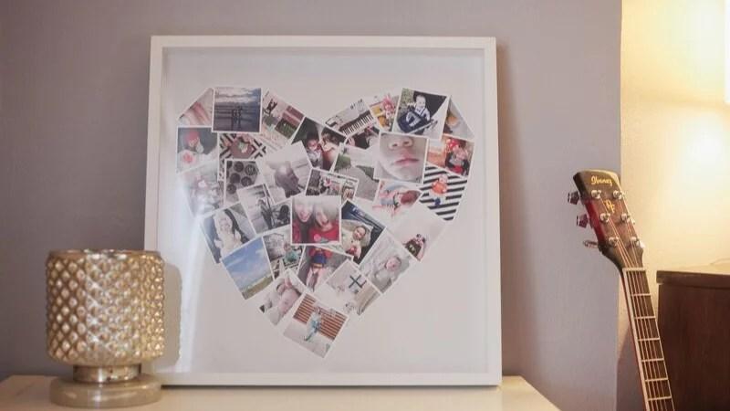 Collage con fotos DIY