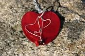 Halsband, snäckskalshjärta
