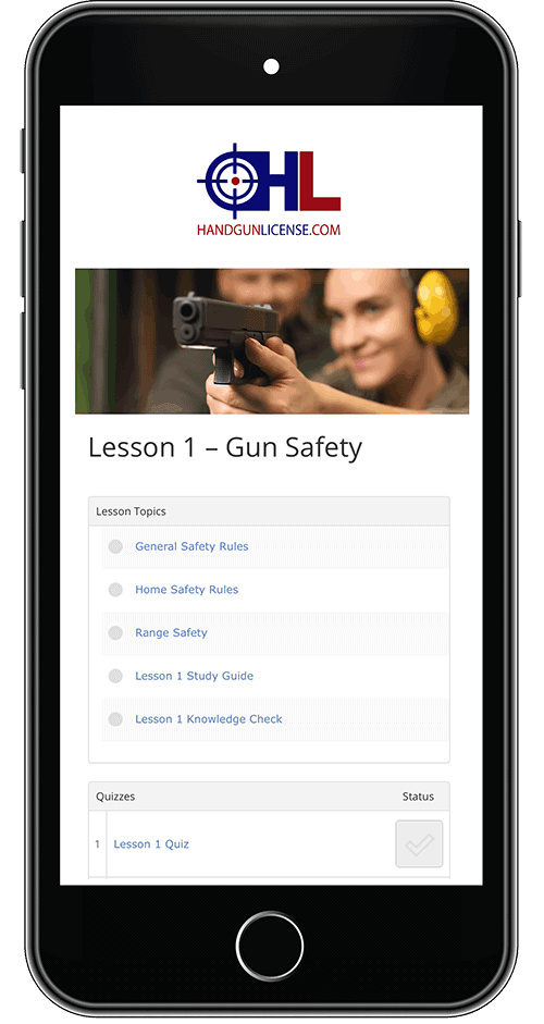 License to Carry Course from Cell Phone Smartphone