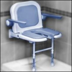 Handicap Shower Chair Blue Velvet Accent Bariatric Commode Showers Commodes