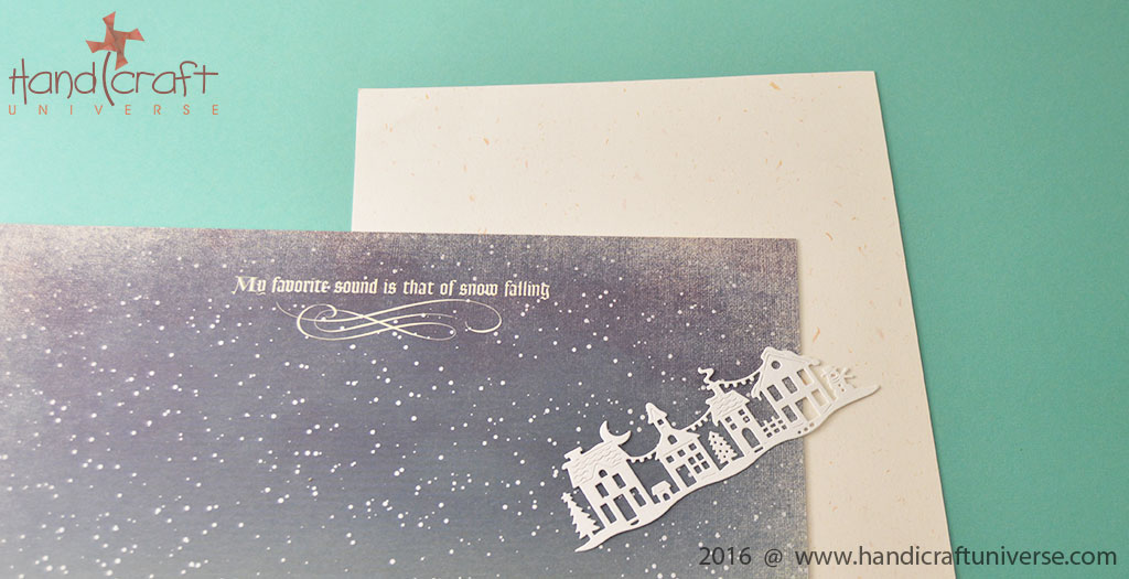 Making A Christmas Card With Die Cuts Handicraft Universe