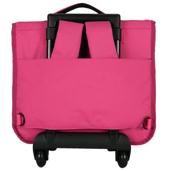 mattel schooltas barbie 38 x 14 x 33 cm roze achterkant trolley rugzak