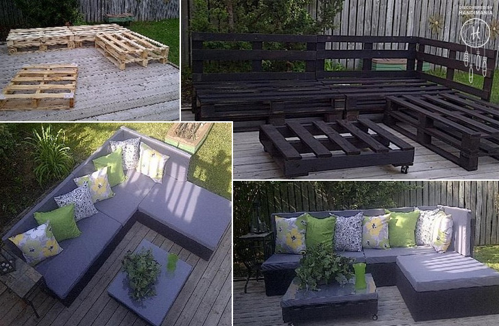 How To Make Pallet Patio Furniture DIY & Crafts Handimania