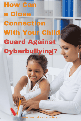 A mom and daughter playing together on the computer in a post about how a close connection can guard against cyberbullying