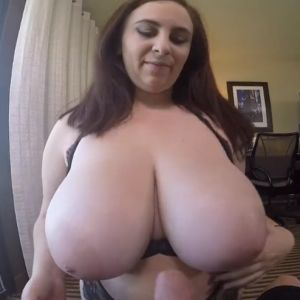 Wife with huge tits gives her hubby a handjob and a tittyfuck