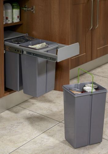 PULLOUT WASTE BIN Base Mounted 30 litre capacity for