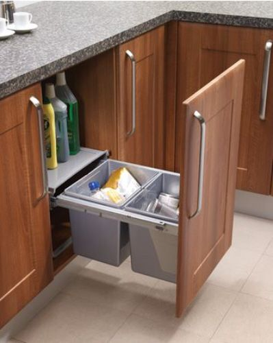 kitchen cabinets with legs condo remodel pull-out waste bin base mounted 30 litre capacity for ...