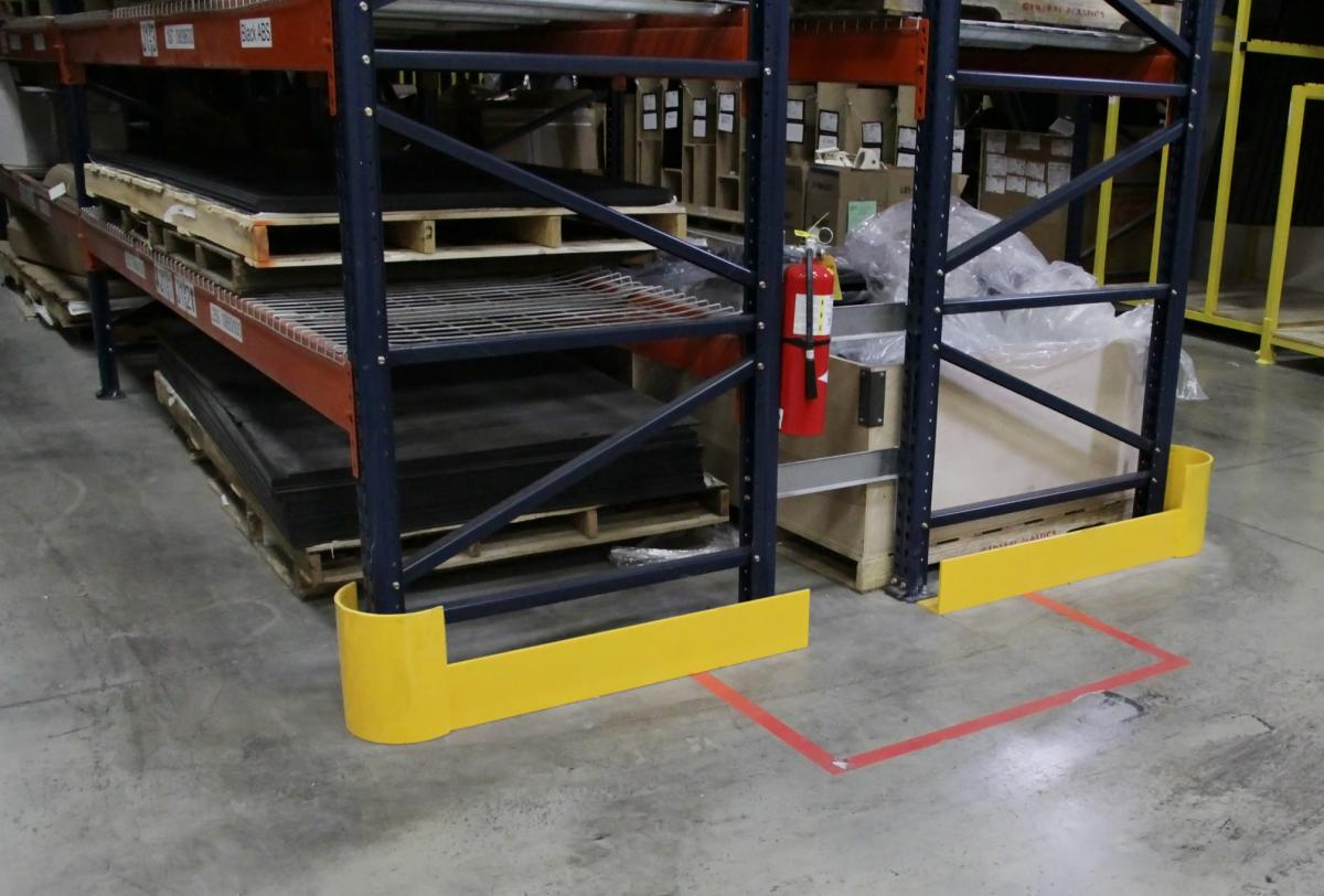 end of row pallet rack guards handle