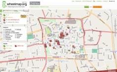 Kartenausschnitt von Klagenfurt auf wheelmap.org - Bild 1