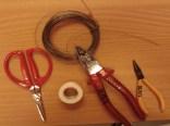 Benötigte Materialien zur Herstellung eines Streckquengels