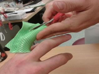 Herstellung einer Fingerschiene zur ergotherapeutischen Behandlung von Luxationen am PIP