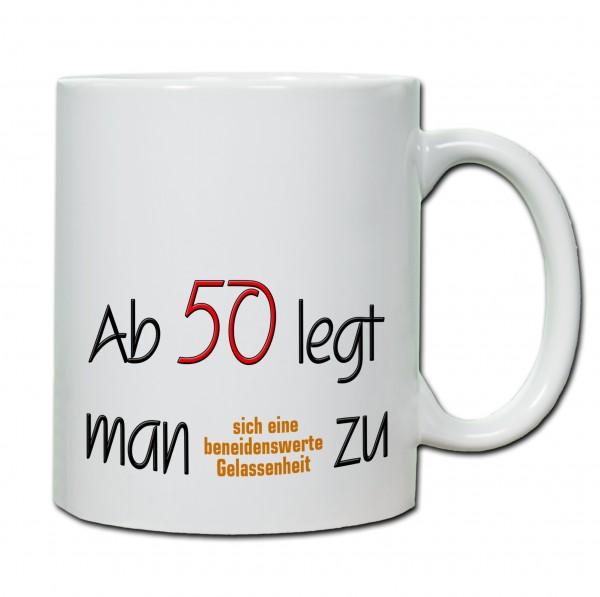 Tasse Keramiktasse zum 50 Geburtstag  wwwhandmadeinnbde