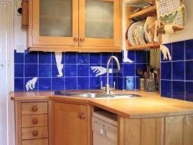 hands and feet-kitchen tiles