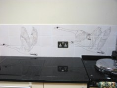 Swan handmade kitchen tiles 1