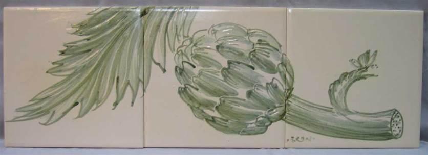 Green Artichoke tile panel