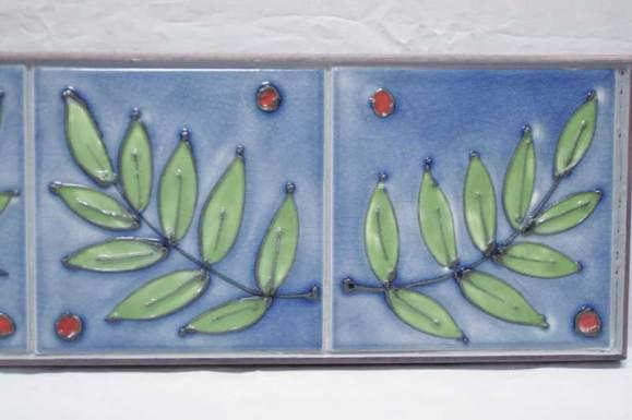 Ash leaf tubelined tiles