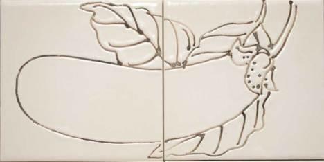 Aubergine vegetable tiles.