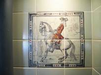 Dressage horses- kitchen tiles