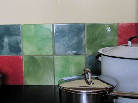 plain coloured tiles