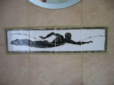 swimmer tile splash back