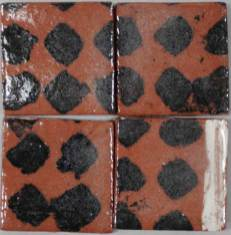 Terracotta tiles- diamonds
