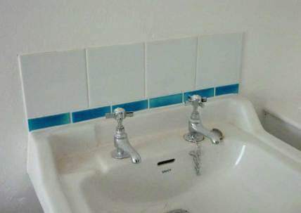 Turquoise tiles-strip borders