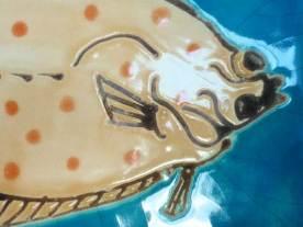 Plaice fish tiles