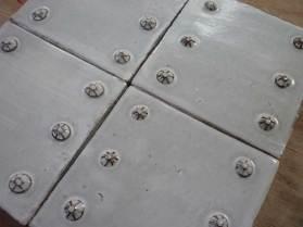 rosette decorated tiles.
