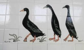 Runner ducks kitchen tile panel