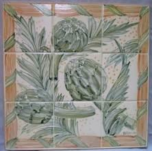 artichoke kitchen tile panel