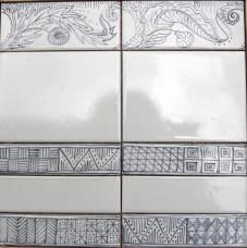 blackwork border tiles
