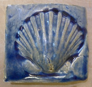 handmade tile scallop shell