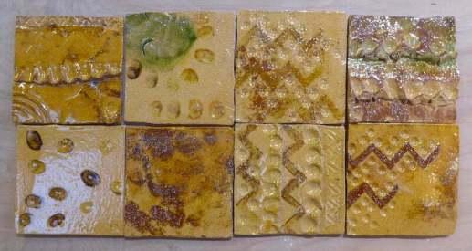 'neolithic design 1 handmade tiles