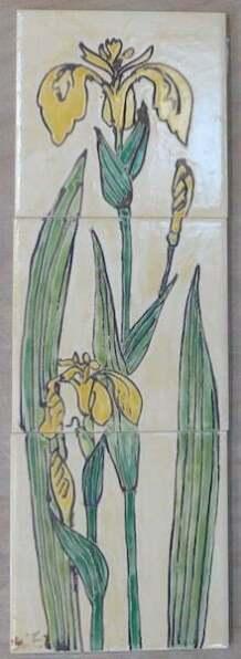 wild iris tiles