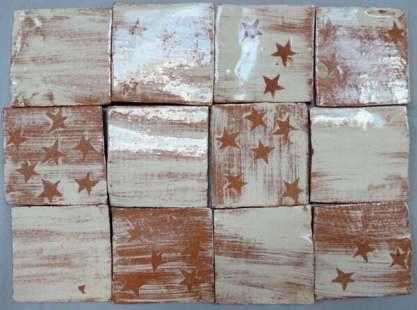 stars + plains handmade clay tiles
