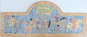 Mediaeval wedding celebration tile panel