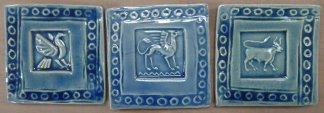 Blue handmade tiles