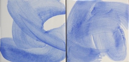 swirly blue tiles