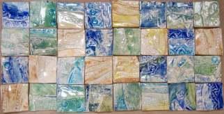 """handmade 2"""" clay tiles"""