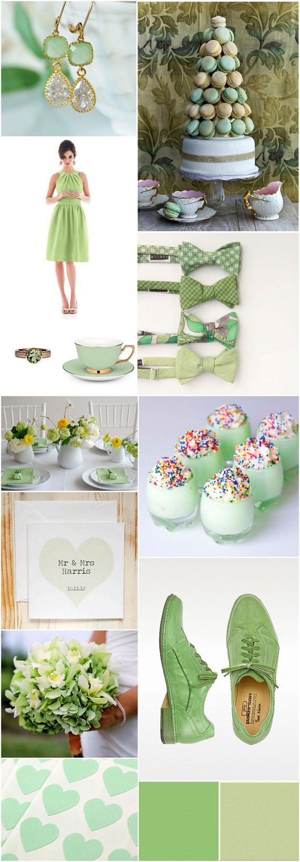 Pistachio Themed Wedding