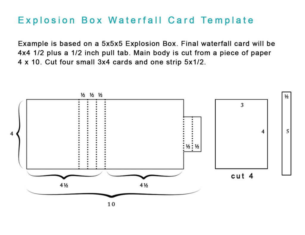 Explosion Box Worksheets Handmade Books And Journals