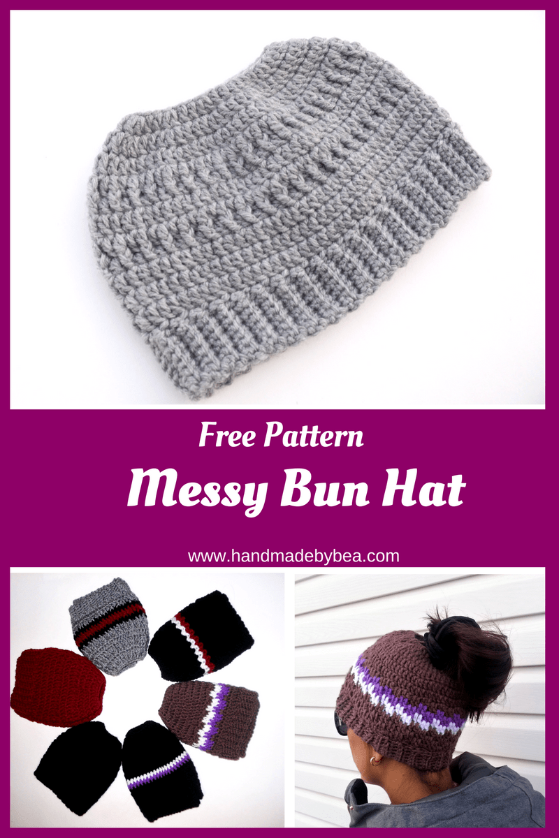 Messy Bun Hat Archives · Handmade by Beatriz
