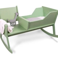 Rocking Chair Crib Combo Screen Porch Lounge Chairs Cradles Handmade Charlotte Cradle
