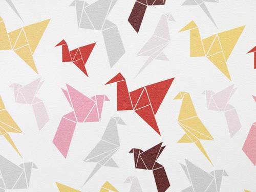 Origami Wallpaper by Dottir  Sonur  Handmade Charlotte