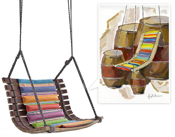 swing chair pics paula deen dogwood dining chairs by angela missoni handmade charlotte
