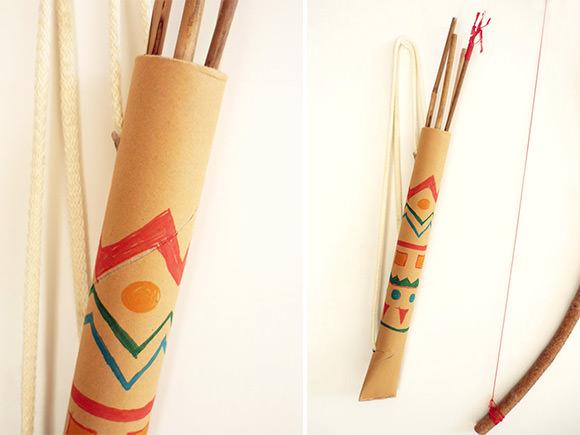 DIY Cardboard Tube Quiver // via domestic candy